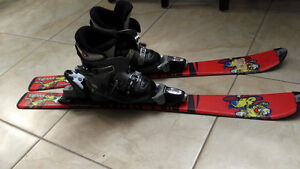 Skis and boots for kids
