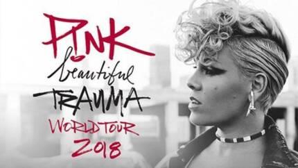1 x P!nk Ticket - Brisbane Show on 15 August 2018