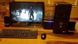 Full Setup PC (Gamer) Intel Core i7(8xcore)/8GB/500GB/HDM