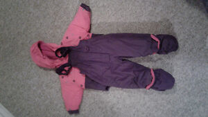 Pink and purple snowsuit