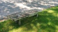 Free wooden bench for backyard or garden