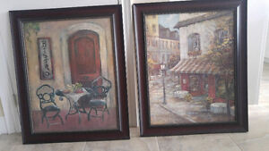 A pair of wall art, medium to large size