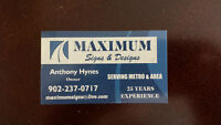 MAXIMUM SIGNS, WINDSHIELDS $100.00 OFF INS.