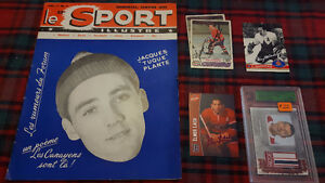 MONTREAL CANADIENS OLD CARDS AND MAGAZINE
