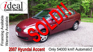 2007 Hyundai Accent--SOLD-SOLD!!     ONLY 54K!!---AUTOMATIC!!