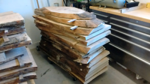 Kiln dried live edge slabs