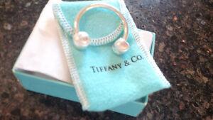 Tiffany - Sterling Silver Baseball Key Ring