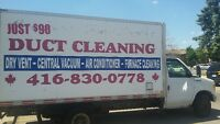 PERFECT ANDCOMPLETE DUCT CLEANING WITH ALL VENTS&INTAKS  JUST90$