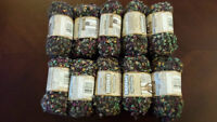 Bernat Tweedsome Yarn - 10 Full Balls - Same Dye Lot