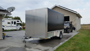 2014 ATC enclosed side x side atv utility  trailer