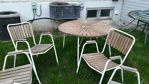 Real Teak Patio Table Set and Chairs - Great Condition