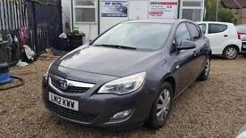 2012 VAUXHALL ASTRA 1.4i 16V Exclusiv [87] 5dr