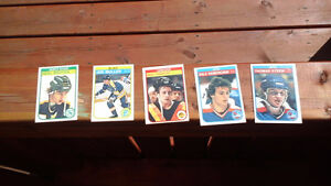 Vintage 1980's Hockey Rookie Cards Excellent Condition