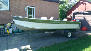 16 foot boat, 25HP Mercury and trailer. Ready for fall fishing.