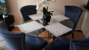SUNPAN GLASS TOP DINING TABLE ONLY