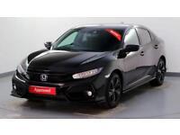 2017 Honda Civic 1.5 VTEC TURBO Sport Plus Petrol black Automatic