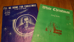 20 pieces of vintage piano sheet music from the 50s and 60s