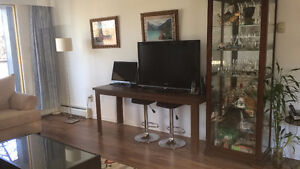 long table for computer and  tv