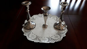 Vintage Silver Plated Candlesticks