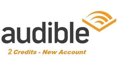 New Audible Account with 2 credits