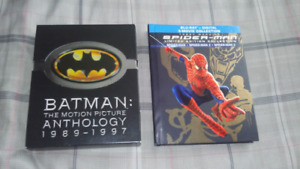 Batman and Spider-Man Movies On Blu-Ray