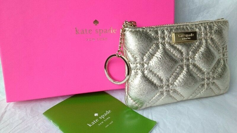 KATE SPADE NEW YORK ASTOR COURT ZUZU METALLIC COIN PURSE/KEY POUCH