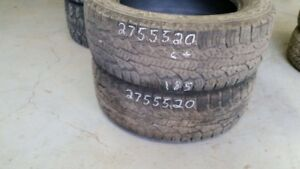 Pair of 2 Nokian Rotiiva AT 275/55R20 tires (65% tread life)