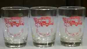 3 vintage Maple Lane Diary Glasses, excellent clear graphics
