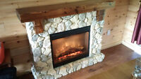 Dimplex Natural Stone Free-Standing Electric Fireplace