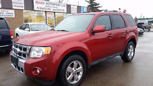 "CERTIFIED FORD ESCAPE ""LIMITED"" HTD LEATHER SUNROOF IN YORKTON"