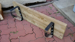 Outdoor Wood step / stair with metal supports - ready to install