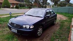 2000 Toyota Corolla 1.8L Economical and reliable Elizabeth Downs Playford Area Preview