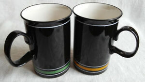 Dunoon Porcelain Mugs, a Pair