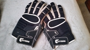 Football  gloves Cutters  lineman leather  high school /uwo xxl