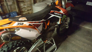 2015 ktm 350 sxf complete plastics with monster