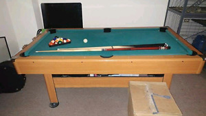 NON-SLATE 3.5x7ft POOL TABLE