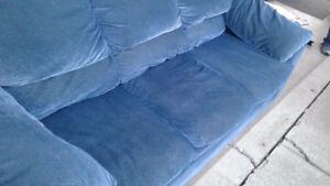 Aqua Blue Couch (Free Delivery)