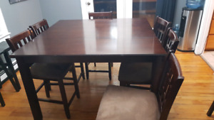 Pub syle dining room table