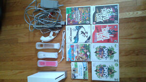 Nintendo Wii Console + 7 Games