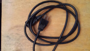 Cable AC 3 prong 3,6,8 ft