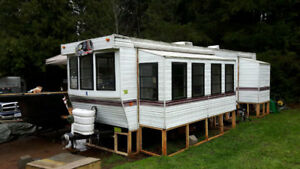 park model in small rv park