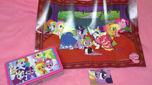 My Little Pony tin, poster & foil card F39