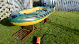 Sevylor 250 inflatable boat and electric outboard engine/motor