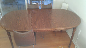 Free table with 6 chairs