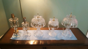 5 crystal lamps