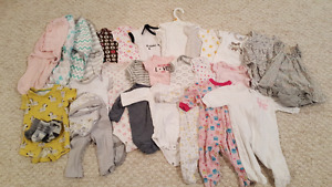 Baby girl clothes: newborn & 0-3 mts