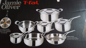 Jamie Oliver - stainless steel 11pc cookware set