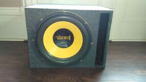 "15"" Subwoofer With Large Slot Ported Box 4 Sale or Trade"