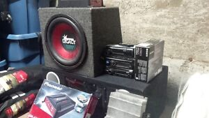 Sound system(s) Amp, subs and deck