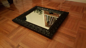 Beautiful mirror in solid wood decorative black frame for sale